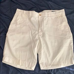 White polo shorts